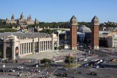 Palais national - district de Montjuic - Barcelone Photo stock