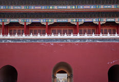 Palais Pékin Chine de ville interdit par porte de Gugong Photos libres de droits