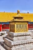 Palais, pagodas à l'intérieur du territoire du Cité interdite Image stock