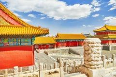 Palais, pagodas à l'intérieur du territoire du Cité interdite Muse Photographie stock