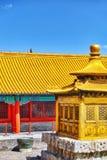 Palais, pagodas à l'intérieur du territoire du Cité interdite Muse Photos libres de droits