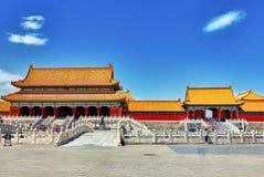 Palais, pagodas à l'intérieur du territoire du Cité interdite Muse Images libres de droits
