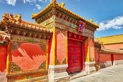 Palais, pagodas à l'intérieur du territoire du Cité interdite Muse Photo libre de droits