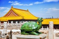 Palais, pagodas à l'intérieur du territoire du Cité interdite Muse Photos stock