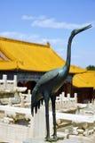 Palais, pagodas à l'intérieur du territoire du Cité interdite Muse Image libre de droits