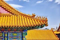 Palais, pagodas à l'intérieur du territoire du Cité interdite Muse Image stock