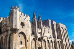 Palais papal à Avignon image stock
