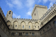 Palais papal à Avignon, France photo libre de droits