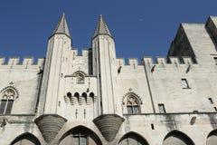 Palais papal à Avignon, France image stock