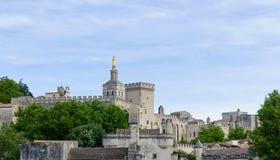 Palais papal, Avignon photo stock