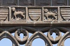 Palais papal. Viterbe. Le Latium. L'Italie. photographie stock