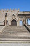 Palais papal. Viterbe. Le Latium. L'Italie. photo libre de droits