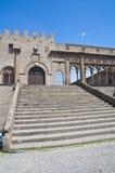Palais papal. Viterbe. Le Latium. L'Italie. image libre de droits