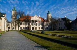 Palais, parc et jardin de résidence de Zamoyski, Kozlowka, Pologne photographie stock