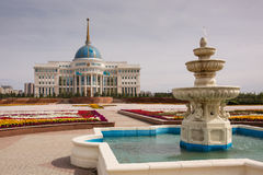 Palais présidentiel d'Ak Orda - 25 août 2015, Kazakhstan, Astana Image libre de droits