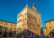 Palais Pretorio dans Prato image libre de droits