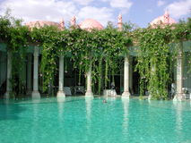 Palais Rhoul pool 2. This is the entrance to the beautiful Palais Rhoul riad in the Palmerai of Marrakech in Morocco. Look at the other pictures to see the Stock Photography