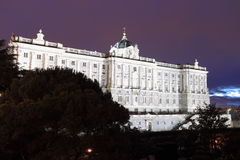 Palais royal à Madrid Photo stock
