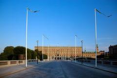 Palais royal à Stockholm, Suède Image stock