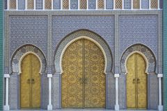 Palais royal dans Fes, Marocco images stock