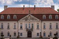 Palais royal dans le nieborow Image stock
