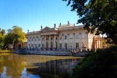 Palais royal de bains de Lazienki à Varsovie Images libres de droits