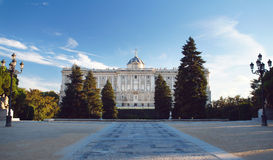 Palais royal de Madrid Photographie stock libre de droits
