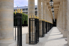 The Palais-Royal gallery and columns Royalty Free Stock Photos