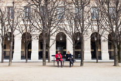 Palais Royal garden in Paris Stock Photo