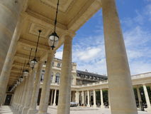 Palais-Royal. The Palais-Royal , originally called the Palais-Cardinal, is a palace located in the 1st arrondissement of Paris. The screened entrance court faces Royalty Free Stock Image