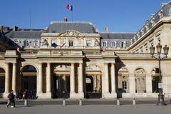 Palais Royal. PARIS, FRANCE, March 12, 2015 : The Palais Royal originally called the Palais-Cardinal is a palace whose entrance court faces the Louvre Palace Royalty Free Stock Photo