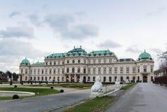 Palais supérieur de belvédère. Vienne photo stock