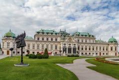 Palais supérieur de belvédère vienne photographie stock libre de droits