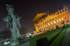Palais Trier gemany bij nacht Royalty-vrije Stock Foto