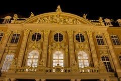 Palais trier som är gemany på natten Royaltyfri Fotografi