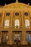Palais trier som är gemany på natten Royaltyfri Foto