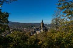 Palais Wernigerode avec le ciel bleu photo libre de droits