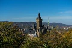 Palais Wernigerode avec le ciel bleu images libres de droits