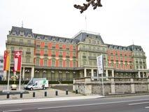 Palais Wilson, Geneve, Suíça Fotografia de Stock