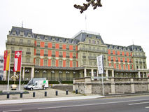Palais Wilson, Geneve, Switzerland. Palais Wilson, headquarters of the Office of the United Nations High Commissioner for Human Rights, Geneve, Switzerland Stock Photography