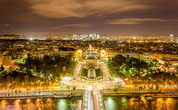 Palaisen de Chaillot, Trocadéroen Royaltyfri Bild