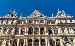 Palaisen de la Börs, en historisk monument i Lyon, Frankrike arkivbilder