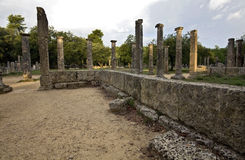 Palaistra at ancient Olympia, Greece Stock Photo