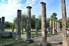 Palaistra bleibt an der alten Olympia Lizenzfreies Stockbild