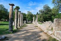Palaistra bleibt an der alten Olympia Stockbilder