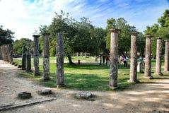 Palaistra bleibt an der alten Olympia Stockfotografie