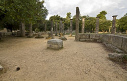 Palaistra or fighting arena at ancient Oly Stock Image