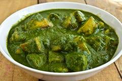 Palak indio del plato-Aloo foto de archivo libre de regalías