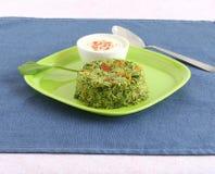 Palak o pilaf del arroz de la espinaca fotos de archivo libres de regalías