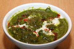 Palak Paneer. Closeup of the famous Indian Palak Paneer curry dish Royalty Free Stock Images